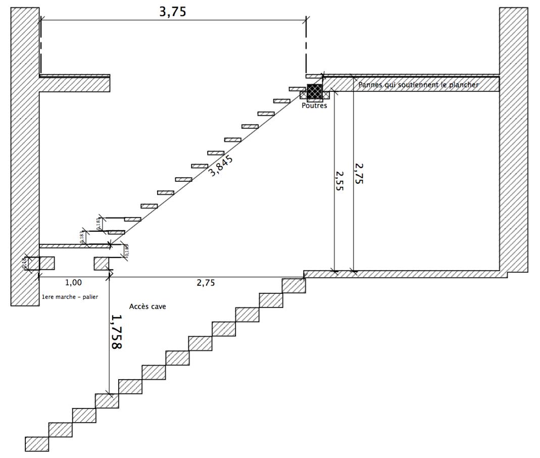 faire un escalier pour une grange. Black Bedroom Furniture Sets. Home Design Ideas