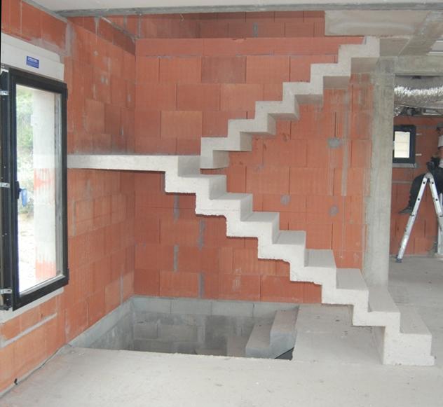 Calcul pour un escalier svp - Escalier beton double quart tournant en kit ...