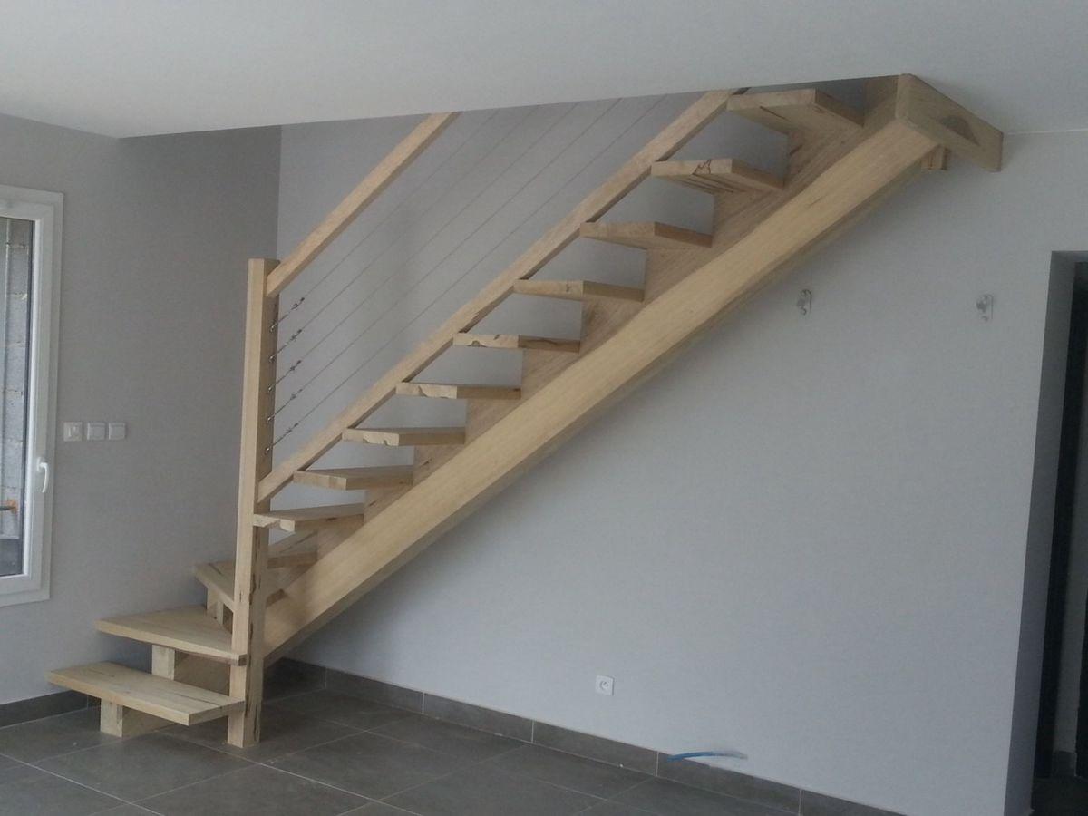 Aide escalier 1 4 tournant bas for Longueur d un escalier