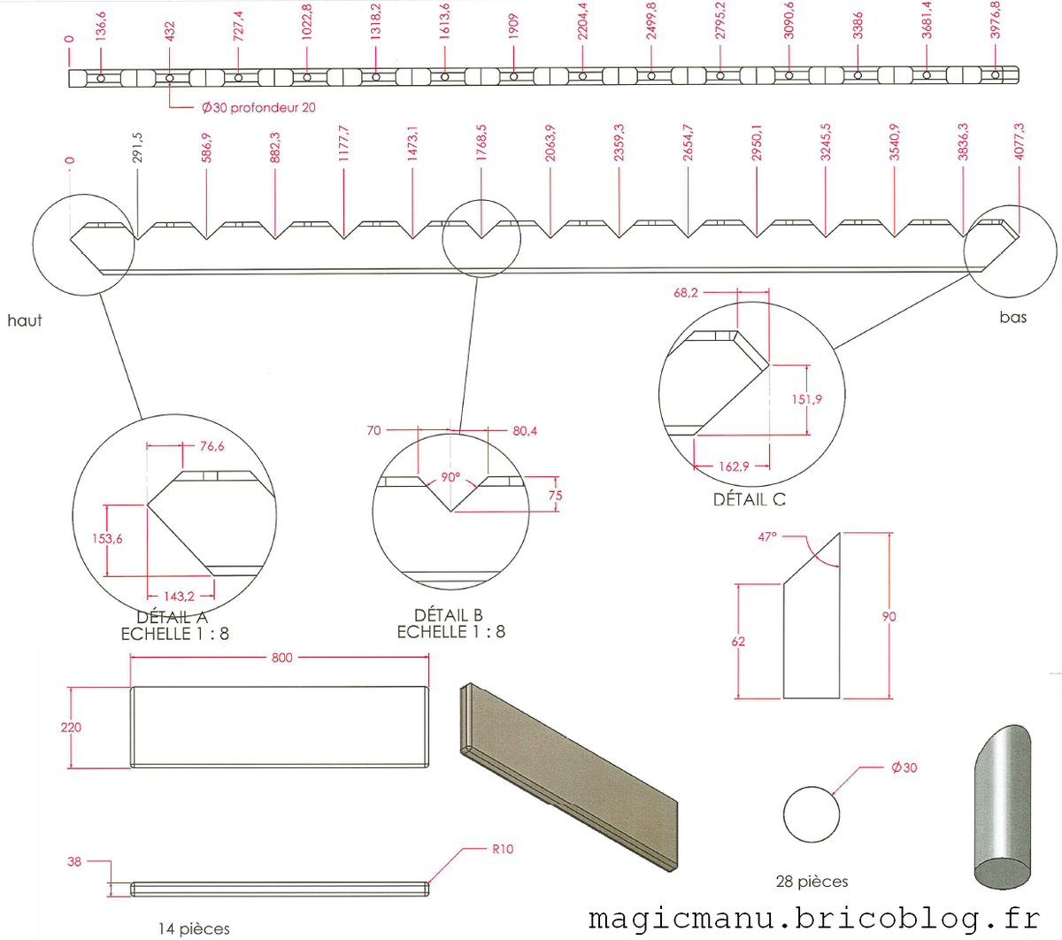 C tes plans et conseils pour cr ation d 39 un escalier droit for Plan construire un escalier