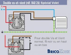 Branchement volet roulant for Monter un va et vient en interrupteur simple