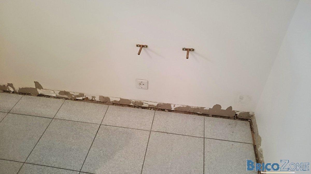 Enlever Carrelage Sur Placo rebouchage après retrait plinthes carrelage
