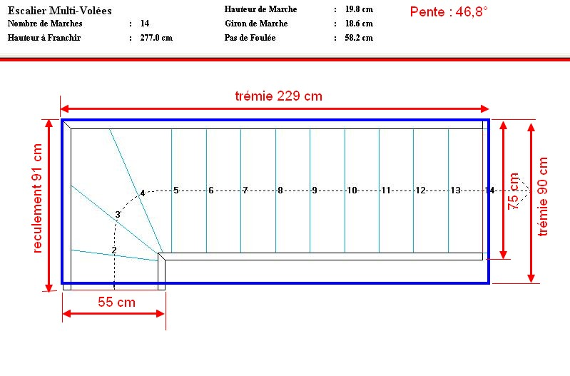 Calcul Marche Escalier Tours 3126 Decor