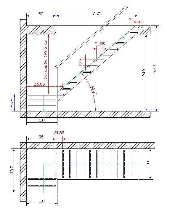 aide dimensions escalier 1 4 tourant palier. Black Bedroom Furniture Sets. Home Design Ideas