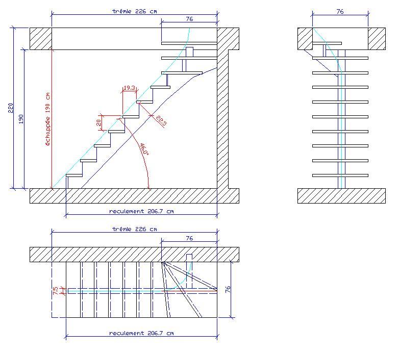 Escalier de meunier dimensions 20170922175137 exemples de desig - Dimension escalier tournant ...