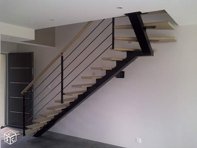 escalier quart tournant haut droit. Black Bedroom Furniture Sets. Home Design Ideas