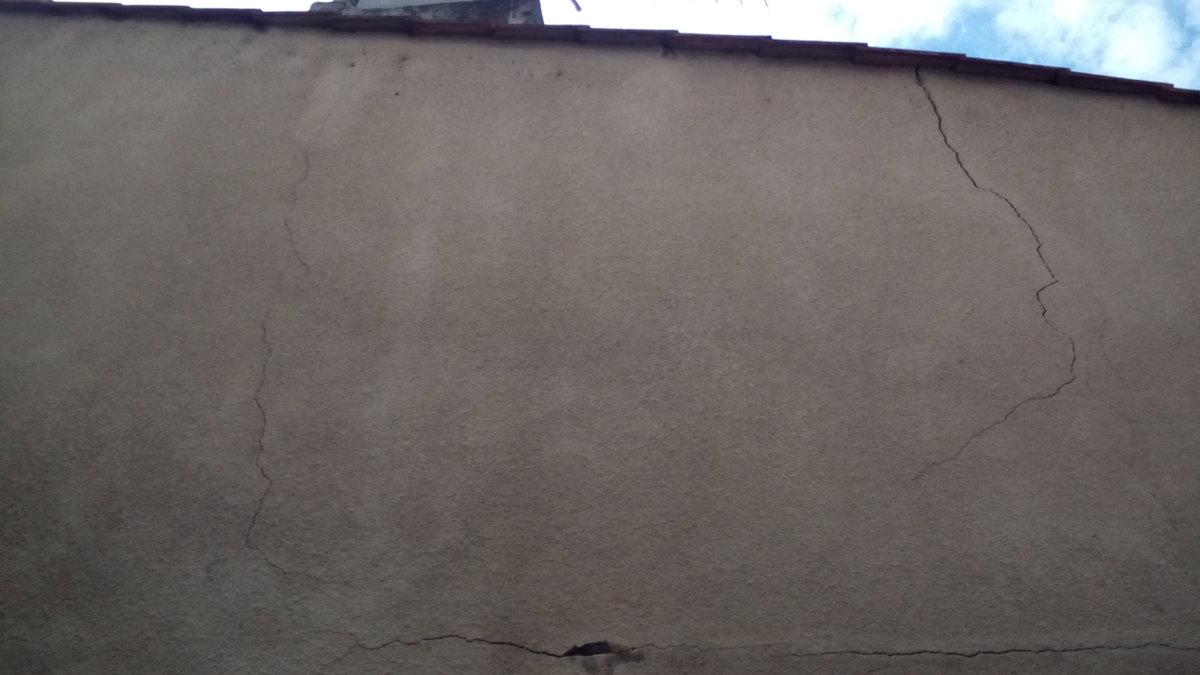 Fissures ext rieures et r paration par ferraillage et for Fenetre qui rentre dans le mur