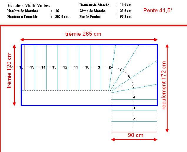 Escalier je calcule je calcule et j 39 arrive plus rien - Escalier 70 cm largeur ...