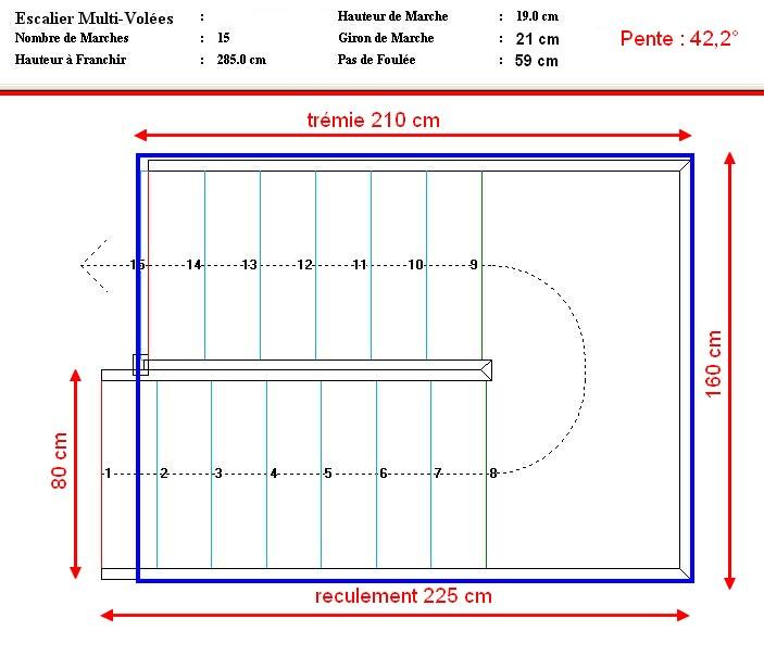 construction escalier 2 4 tournant avec palier. Black Bedroom Furniture Sets. Home Design Ideas