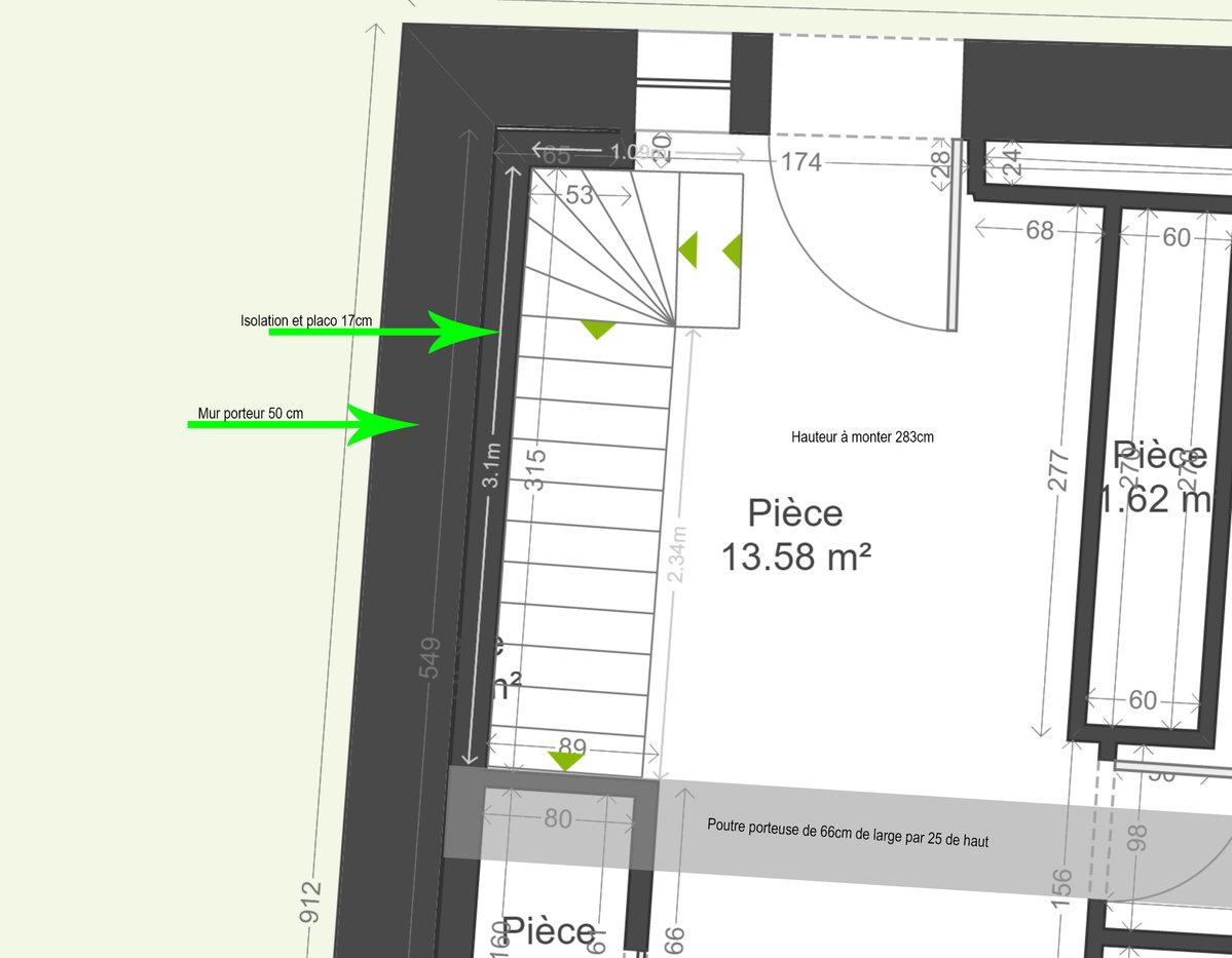 Coup de pouce calcul escalier quart tournant bas for Calcul escalier 2 quart tournant