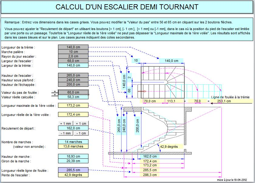 Pin calcul escalier et marche on pinterest for Marche d angle calcul