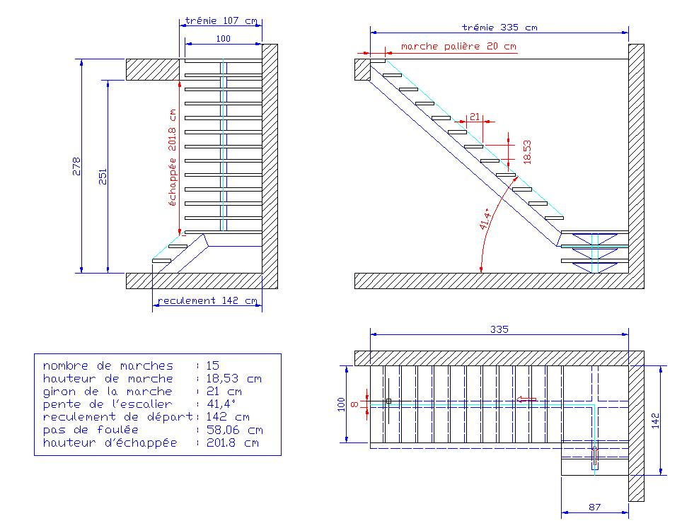 ordinary calcul escalier quart tournant 14 2267. Black Bedroom Furniture Sets. Home Design Ideas