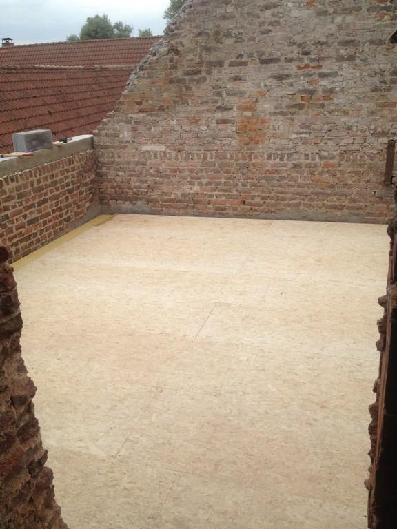 Renovation extension d 39 tage en brique charpente chainage - Dalle osb 22mm ...