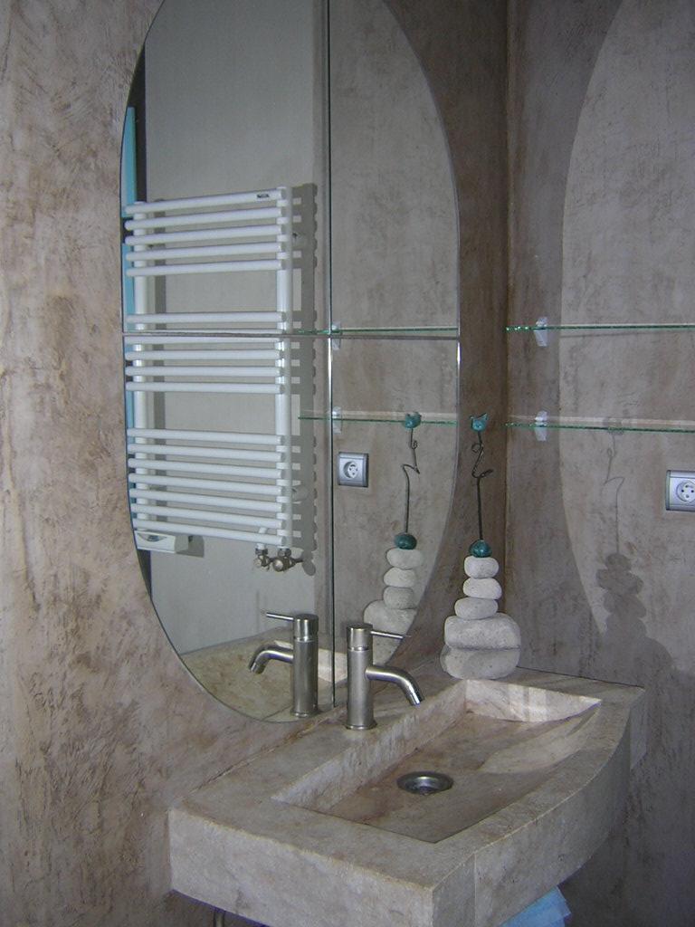 stucco enduit chaux salle de bainjpg - Salle De Bain A La Chaux