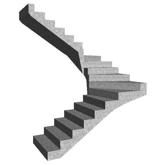 Escalier double quart tournant - Escalier beton double quart tournant en kit ...