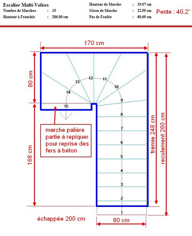 escalier double quart tournant erreur de conception. Black Bedroom Furniture Sets. Home Design Ideas