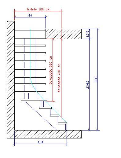 escalier quart tournant bas droite. Black Bedroom Furniture Sets. Home Design Ideas