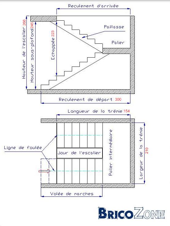 escalier pallier 1 2 tournant. Black Bedroom Furniture Sets. Home Design Ideas