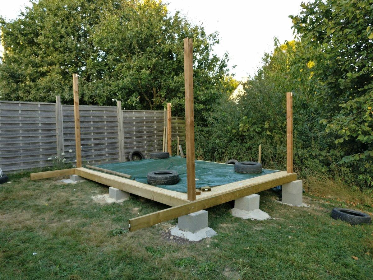 Sur Quoi Poser Un Abri De Jardin abri de jardin sur pilier