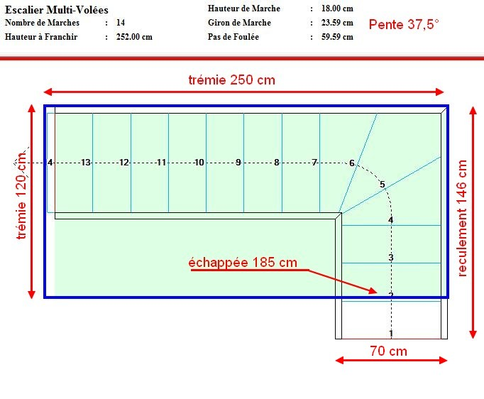 besoin d 39 aide pour calcul et plan escalier quart tournant en bois. Black Bedroom Furniture Sets. Home Design Ideas