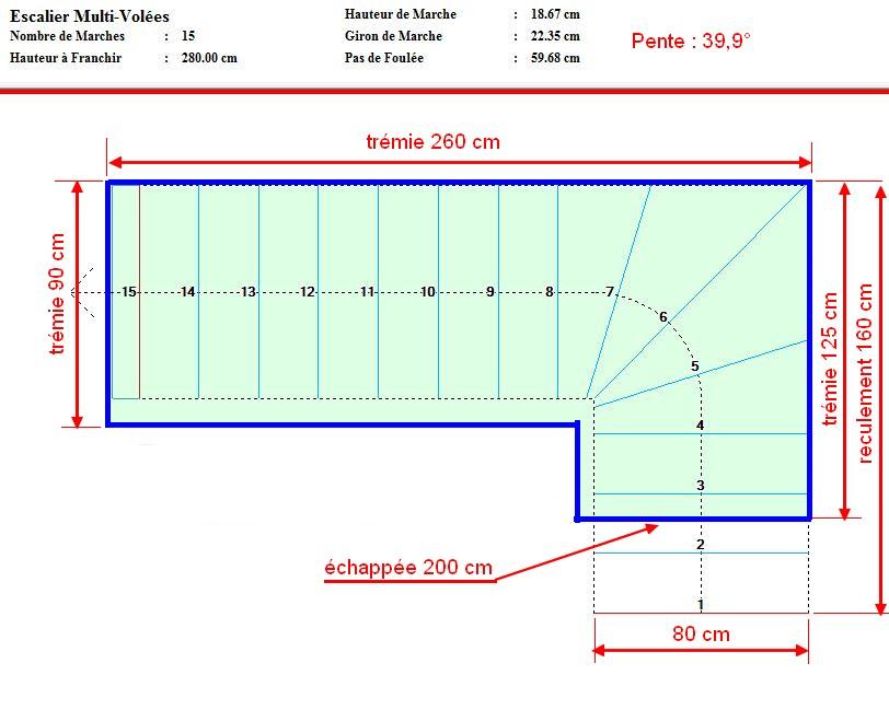 besoin d 39 aide pour calcul escalier quart tournant. Black Bedroom Furniture Sets. Home Design Ideas