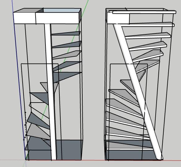 quelle solution d 39 escalier pour petite tr mie. Black Bedroom Furniture Sets. Home Design Ideas